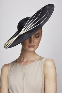 Juliette Botterill Millinery Navy Side Sweep - Hat For Women - Ideas of Hat For Women - Juliette Botterill S/S 2014 Navy Side Sweep Hat with quill detail. Millinery Hats, Fascinator Hats, Fascinators, Headpieces, Navy Hats, Wedding Hats, Free Wedding, Wedding Blog, Wedding Ideas