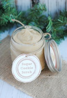 Sugar Cookie Scrub Recipe/Last Minute Handmade Gift Homemade Scrub, Homemade Gifts, Diy Gifts, Christmas Gifts, Christmas Mood, Craft Gifts, Holiday Gifts, Sugar Scrub Recipe, Sugar Scrub Diy