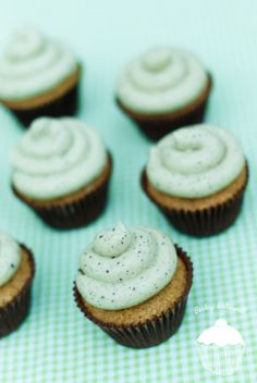 Mint Choc Chip Cupcakes « Becky Bakewell