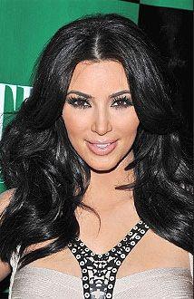 kim kardashian hair color black
