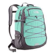 Tiffany blue & Grey Northface bookbag
