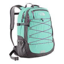 Tiffany blue & Grey Northface bookbag