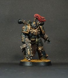 """True-Scale"" (Primaris) Chaos Space Marine of the Black Legion"