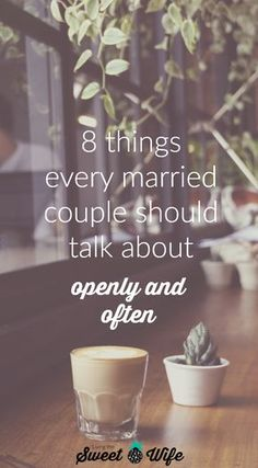 Now a lot of married couples would probably tell you that they can talk to their spouse about anything. But is that really true? I've actually come across a lot who have a hard time even bringing certain subjects up in their own marriages. Cross-check this list and see if these subjects come up regularly in your own marriage. If they don't- maybe it's time they should!