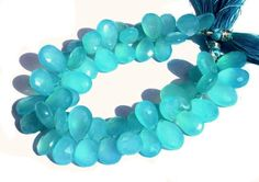 Full 8 Inches AAA Aqua Chalcedony Faceted by GemsAndBeadsEmporium, $77.95