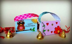 Valentines Day Treat Candy Kiss Cards DIY by TrendyDesignerPrints