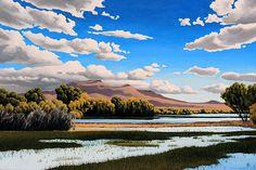 Doug West: New Mexico 360 - Blue Rain Gallery Fantasy Landscape, Landscape Art, Landscape Paintings, Cute Galaxy Wallpaper, Desert Art, Blue Rain, Southwest Art, Creative Illustration, Environmental Art