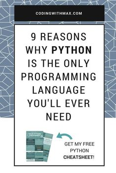 Python is the main language I have coded in for the past 3 years, and it's the language that is solely responsible for my successful career as a programmer and data scientist. Because I owe so much to Python, I thought I'd sit down today and sing its prai Basic Computer Programming, Computer Coding, Python Programming, Computer Technology, Computer Science, Energy Technology, Technology Gadgets, Programming Humor, Learn Programming