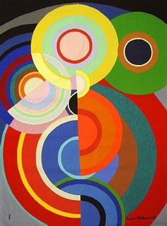 """Petite Automne,"" by Sonia Delaunay Orphism art movement Sonia Delaunay, Robert Delaunay, Art Abstrait, Art Plastique, Oeuvre D'art, Geometric Shapes, Art Lessons, Art History, Modern Art"