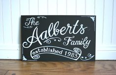 family name on chalkboard - Google Search