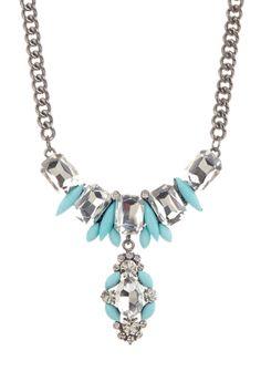 deco crystal necklace