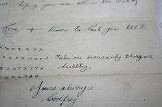I want a hand written love letter