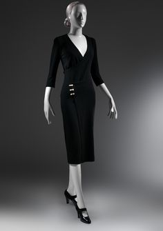 "Charles James (American, born Great Britain, 1906–1978). ""Taxi"" Dress, ca. 1932. The Metropolitan Museum of Art, New York, Purchase, Alan W. Kornberg Gift, 2013 (2013.309) #CharlesJames"