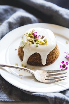 Katie Wahlman breaks down gluten-free baking with this flourless pistachio cake recipes with the sweetest honey-lemon yogurt glaze.