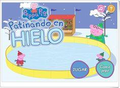 """""""Peppa Pig patinando en hielo"""" (Números) http://www.tudiscoverykids.com/juegos/peppa-patinando/game/game.swf"""