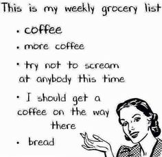 I'll just have a coffee while I review the list.