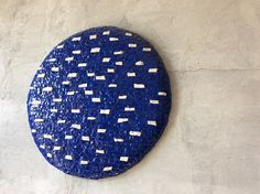 Mosaic sky. Bas-relief mosaic of smalt and natural stone. Size: diameter 60 сm, thickness 4 сm, weight 10.
