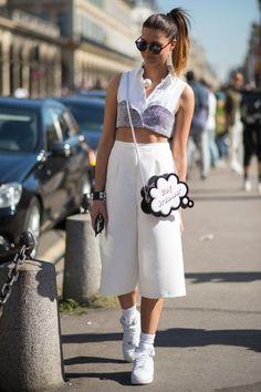 Nicole Diver dice que hasta hace muy poco los culottes eran simplemente las bragas de pantaloncito, pero que ahora están por todas partes, y no son más que un híbrido entre un pantalón ancho palazz…