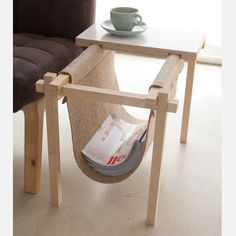 magazine holder with plywood table top