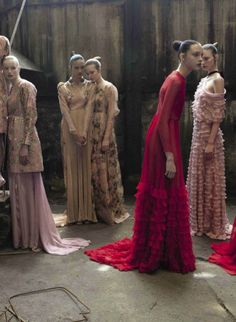 Valentino Haute Couture by Deborah Turbeville / Vogue Italia September 2012. I DIEEEEEE!