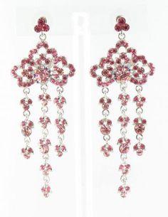 pink earrings | pink pageant earrings | www.LMBling.com #lmbling #lmblingearrings #lmblingpinkearrings #lmblingstatementearrings #pageantearrings #pinkpageantearrings #lmblingchandelierearrings #chunkyearrings #pageantjewelry #promjewelry