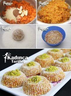 Carrot Semolina Cezerye Recipe, How To . Turkish Recipes, Italian Recipes, Cake Recipe Using Buttermilk, Turkish Sweets, Cake Recipes, Dessert Recipes, Tasty, Yummy Food, Arabic Food