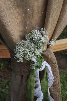 Wedding curtain.