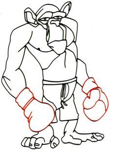 Monkey boxeador