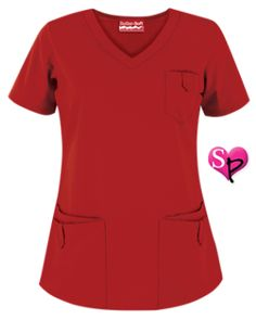 Butter-Soft Scrubs by UA™ Women's Rounded V-Neck Top Our flattering, rounded v-neck scrub top is the perfect combination of function and fashion! Red Scrubs, Uniform Advantage, Scrub Life, Womens Scrubs, Nursing Clothes, Medical Scrubs, Scrub Tops, Shades Of Red, V Neck
