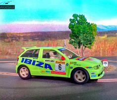 Seat Ibiza  Kit Car (Scalextric) (1/32 scale) #scalextric #slot #slotcar #slottrack #slotcartrack #circuito #rennbahn  #maqueta #portable  #forsale  #scalemodel #modelismo #modelism #handmade #paint #airbrush #aerografo #landscaping #rally #cars #wrc #wec #paintwork #mountain #montaña #diy #doityourself #entrepreneur #custom #artisan #woodart #art #carart #maqueta #madera #handmade #hechoamano #woodwork #fetama #seat #seatibiza #kitcar #ibizakitcar #132scale #montecarlo #rallymontecarlo #toypic Slot Car Tracks, Slot Cars, Handmade Paint, Car Ins, Ibiza, Woodworking, Mountains, Circuit, Cars Motorcycles