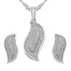 CZ Studded Brass Pendant, Earrings Set with Chain #pokemongonews  #indianjewellery #love #topjewellery