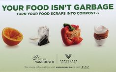 Vancouver begins food scrap pickup on Earth Day 2010 — City Farmer News Food Waste Recycling, No Waste, Earth Day, Vancouver, Scrap, Campaign, House Facades, Desserts, Farmer