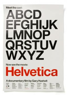 experimental jetset - poster for helvetica, the movie