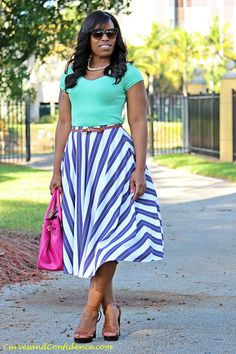 Work Wear Staple: The Midi Skirt – Curves and Confidence