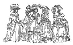 *The Graphics Fairy LLC*: Vintage Kids Printable - French Ladies - Marie Antoinette-esque