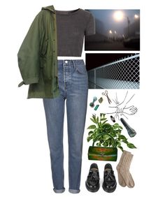 """""""bad things"""" by paper-freckles ❤ liked on Polyvore featuring OKA, YMC, Bamford, Topshop and TUDOR"""