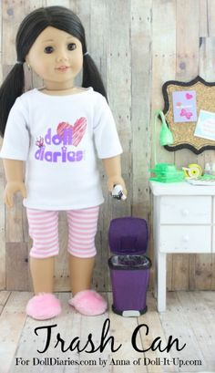 Doll Craft -How to Make a Trash Can — Doll Diaries