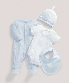 Boys Blue Four Piece Gift Set - NEW Arrivals - Mamas & Papas