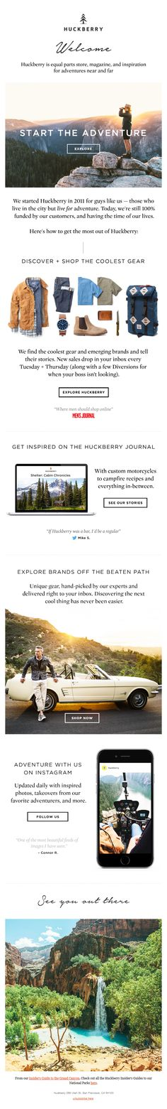 Mens power welcome email by Huckberry