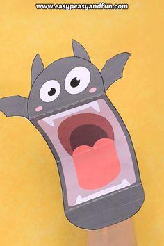Bat Puppet Printable Printable bat puppet for kids. Space Crafts For Kids, Crafts For Kids To Make, Unicorn Crafts, Owl Crafts, Bat Activities For Kids, Puppets For Kids, Paper Puppets, Puppet Crafts, Diy Crafts Hacks