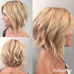 """Gave my client a soft#graduatedbob #shannonhairsalon #hairbymirna"""