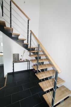 Escalier quart tournant en métal bois - Fabrication sur mesure ...