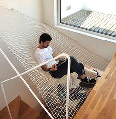 erstaunliches Interior treppe hängematte idee