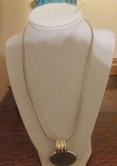 19 1/2 Inch Sterling Silver Snake Chain with Sterling Pendant / Slide #snakechain