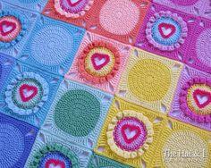 CROCHET PATTERN  Follow Your Heart  a crochet heart afghan