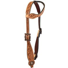 Kickin Ass Tack Vintage Floral One Ear Headstall
