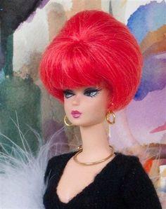 love this hair style! Barbies Pics, Neon Hair, Silk Hair, Coloured Hair, Ken Doll, Vintage Barbie Dolls, Barbie Collector, Barbie World, Barbie Friends