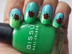 Nails by Tenshi: Plaquitas de BornPrettyStore Catarinas, felices catarinas.
