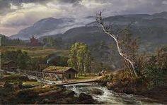 Johan Christian Clausen Dahl, LANDSCAPE NEAR BEI KAUPANGER WITH CHURCH, Auction 957 Old Masters