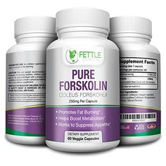 Pure Forskolin Extract - 250mg 60 Capsules Lose Fat Fast Weight Loss Slims Tones Suppresses Appetite Boosts Energy for Women